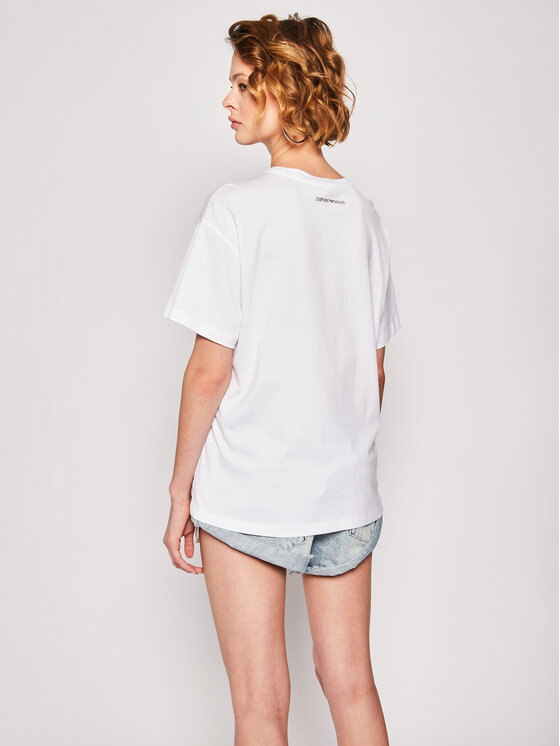 Emporio Armani Emporio Armani T-Shirt 3H2T7P 2J30Z 0100 Biały Regular Fit