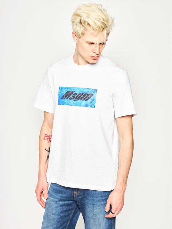 MSGM T-Shirt 2840MM230 207098 Biały Regular Fit
