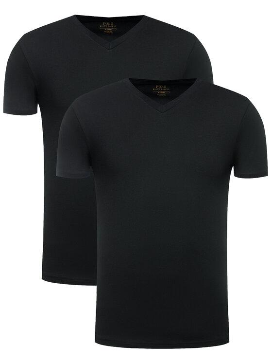 Polo Ralph Lauren 2 marškinėlių komplektas 714513433 Juoda Slim Fit