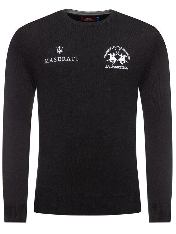 La Martina La Martina Sweater OMSM33 YW025 Fekete Regular Fit