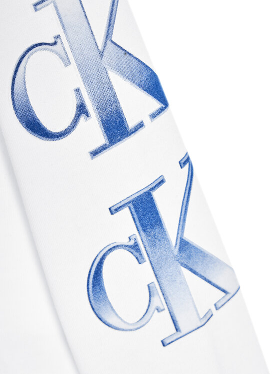 Calvin Klein Jeans Calvin Klein Jeans Bluzka Logo Repeat Graphic IB0IB00819 Biały Regular Fit