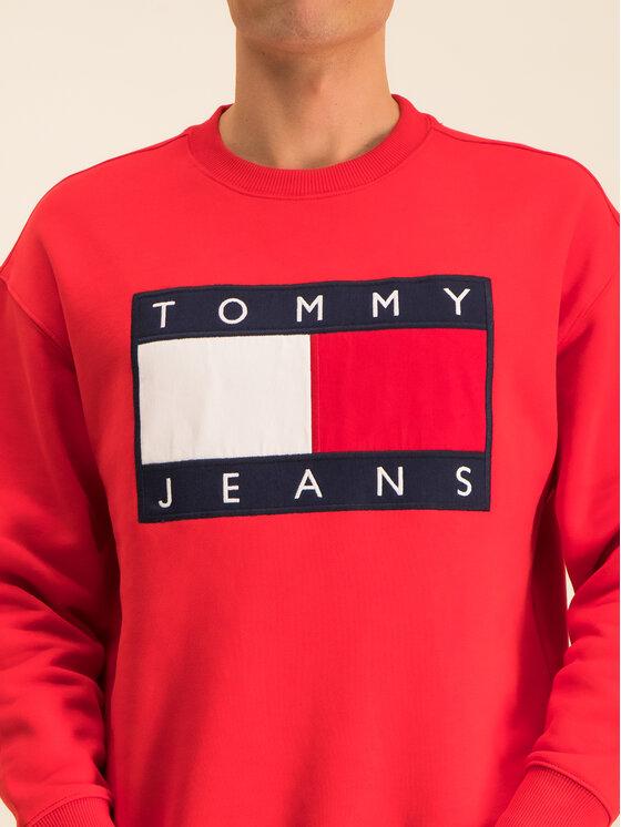 Tommy Jeans Tommy Jeans Суитшърт TJM Tommy Flag Crew DM0DM07201 Червен Regular Fit