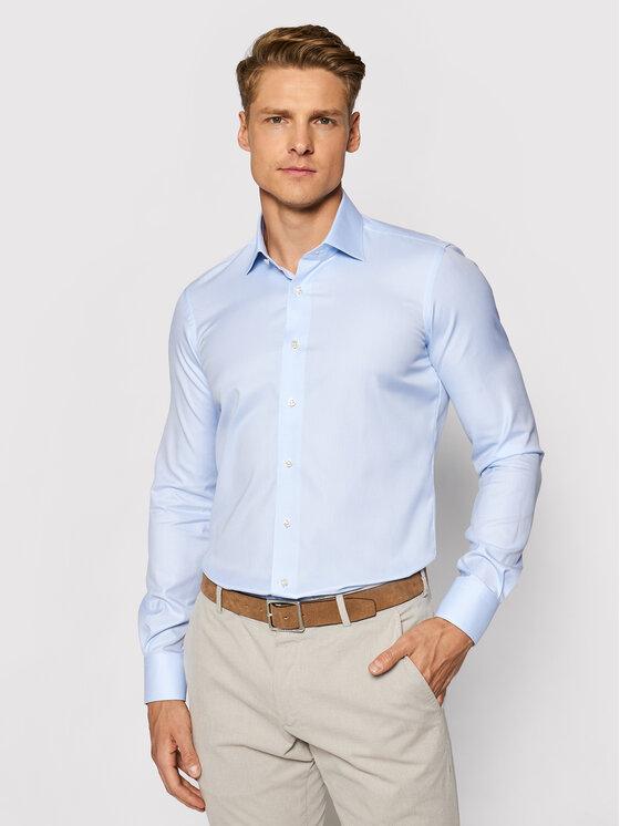 Emanuel Berg Marškiniai MCR37 Mėlyna Slim Fit