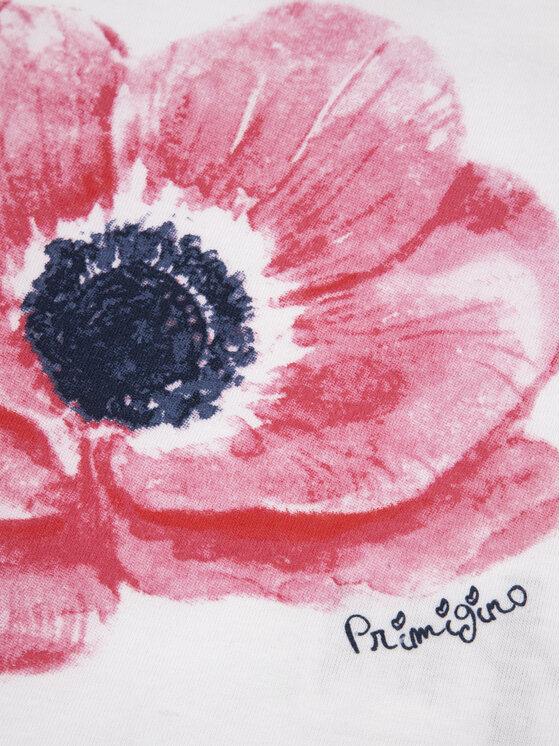 Primigi Primigi T-Shirt Flower Fun 43226502 Biały Regular Fit