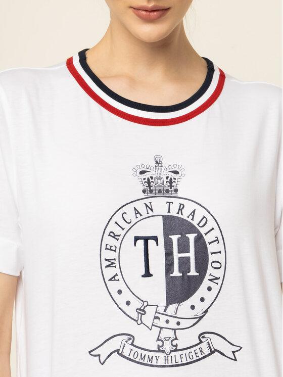 Tommy Hilfiger Tommy Hilfiger Póló Crest WW0WW25611 Fehér Regular Fit