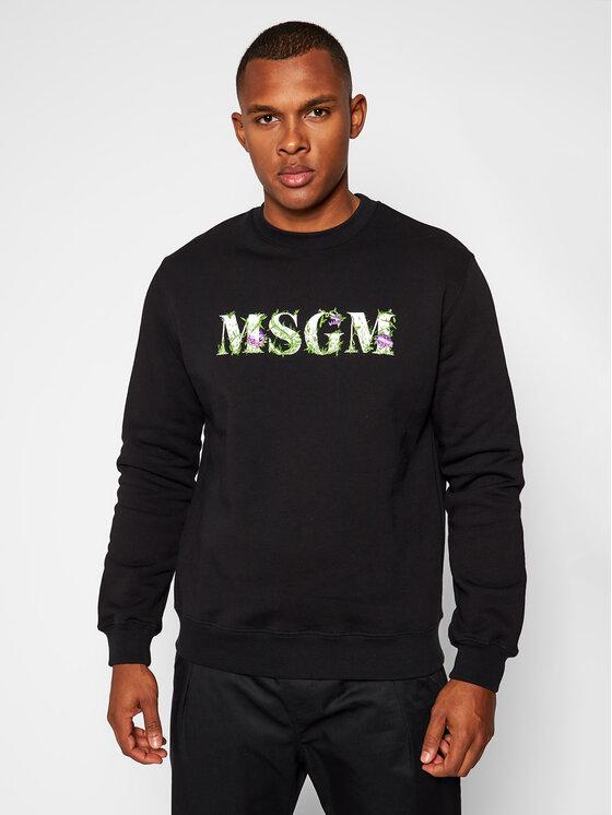 MSGM Džemperis 2940MM219 207599 Juoda Regular Fit