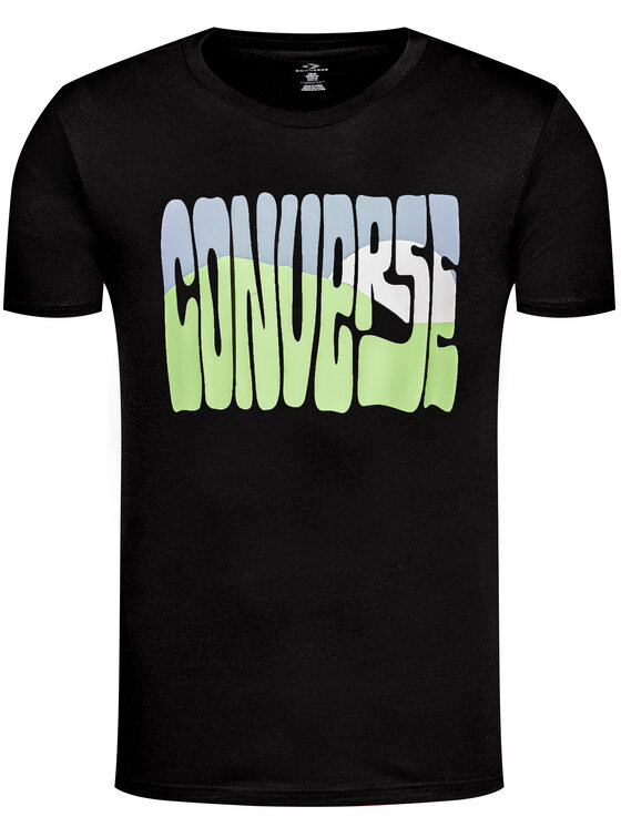 Converse Converse T-Shirt Rising Sun 10018864-A02 Μαύρο Regular Fit