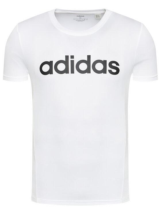 adidas adidas T-Shirt Design 2 Move FL0302 Biały Regular Fit