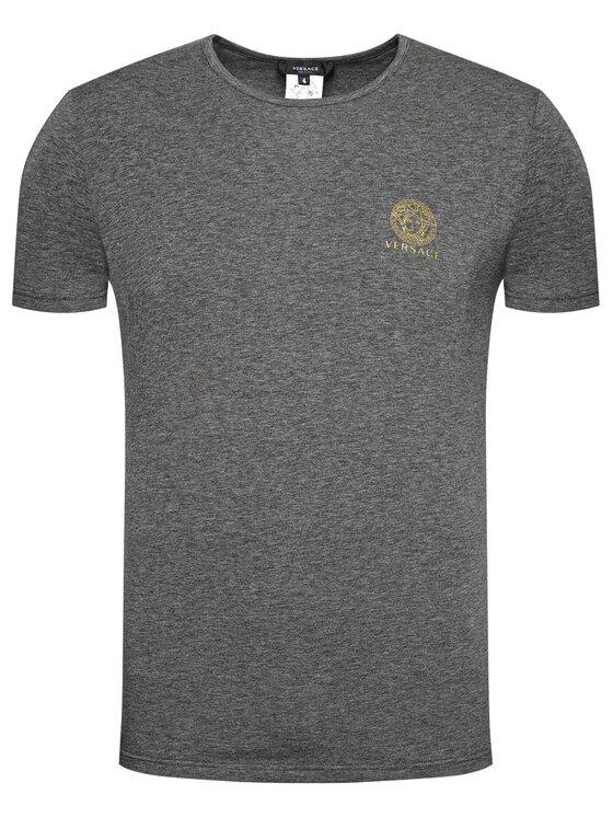 Versace Versace T-Shirt Medusa AUU01005 Szary Regular Fit