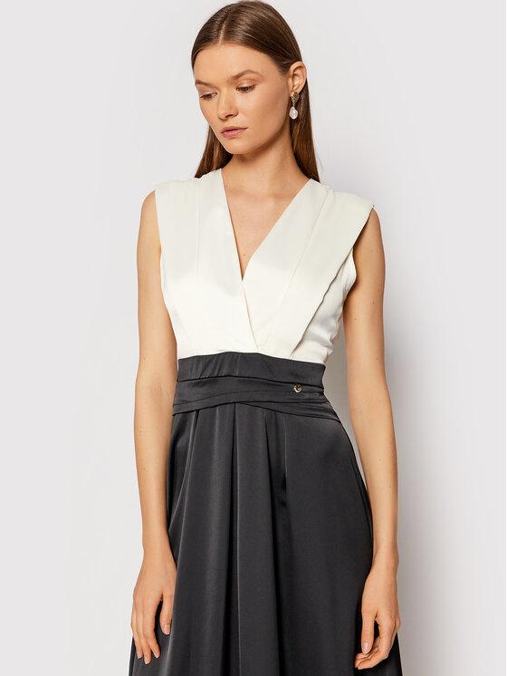 Rinascimento Rinascimento Sukienka wieczorowa CFC0104694003 Czarny Regular Fit