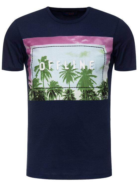 Trussardi Trussardi T-shirt 52T00202 Blu scuro Regular Fit