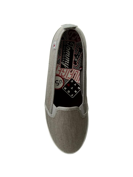TOMMY HILFIGER TOMMY HILFIGER Πάνινα παπούτσια Keira Hg 2D1 FW0FW00342 Γκρι