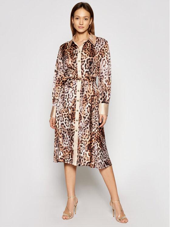 Marciano Guess Marškinių tipo suknelė 1GG721 7099Z Ruda Regular Fit