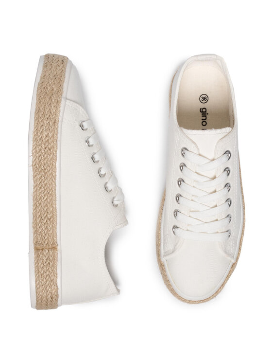 Gino Rossi Gino Rossi Espadrillas Caila DP134N-TWO-TKTK-1100-T Bianco