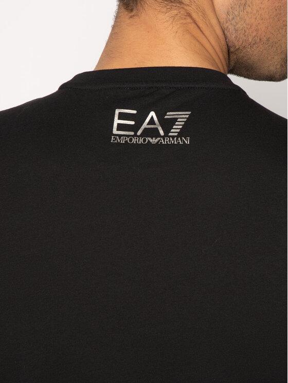 EA7 Emporio Armani EA7 Emporio Armani T-Shirt 6GPT11 PJ02Z 1200 Czarny Regular Fit