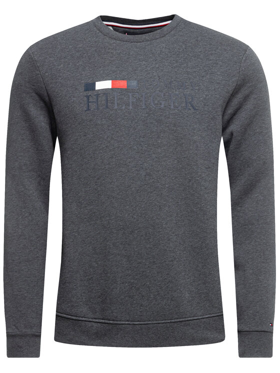 Tommy Hilfiger Tommy Hilfiger Bluză Basic MW0MW12286 Gri Regular Fit