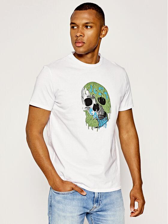 Just Cavalli Just Cavalli T-shirt S03GC0545 Blanc Regular Fit