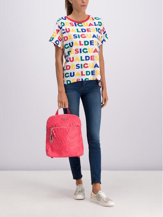 Desigual Desigual T-Shirt Ramkey 19SWTKCG Barevná Regular Fit