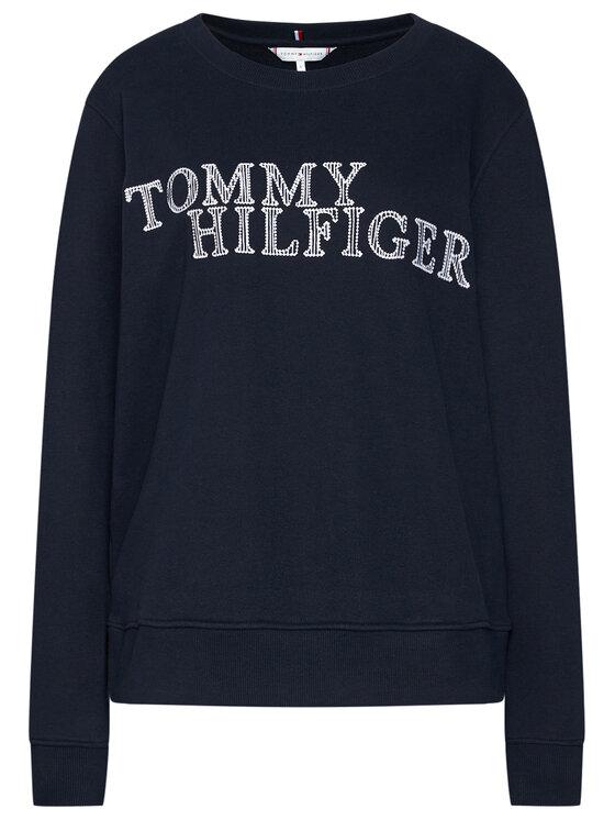 Tommy Hilfiger Tommy Hilfiger Mikina Christa WW0WW28362 Tmavomodrá Relaxed Fit
