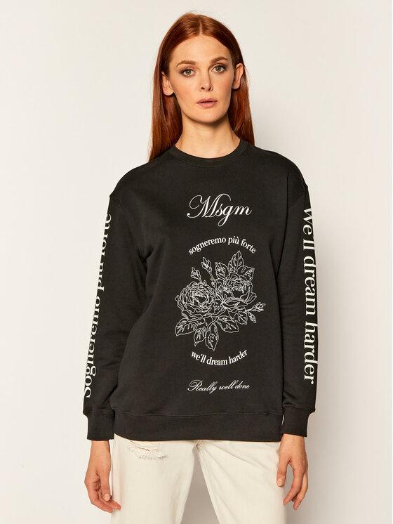 MSGM Džemperis 2941MDM99 207799 Juoda Regular Fit