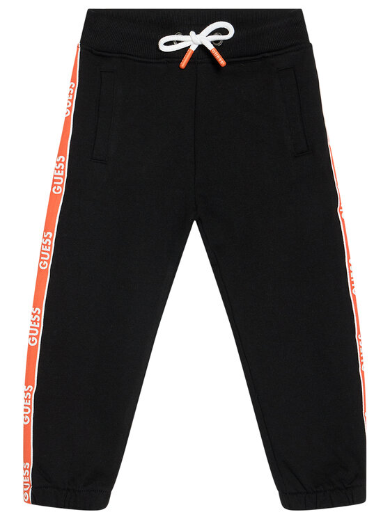 Guess Guess Spodnie dresowe N1RQ03 KA6R0 Czarny Regular Fit