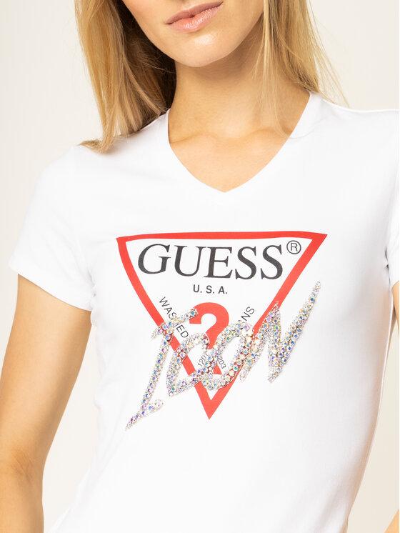 Guess Guess T-shirt Icon W01I20 J1300 Blanc Regular Fit