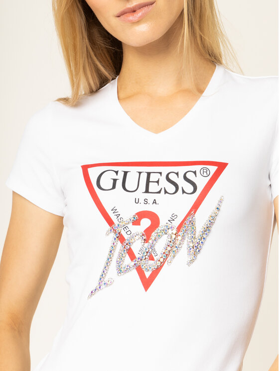 Guess Guess Тишърт Icon W01I20 J1300 Бял Regular Fit