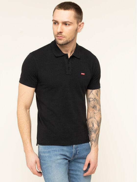 Levi's® Levi's® Тениска с яка и копчета Housemark 22401-0080 Черен Regular Fit