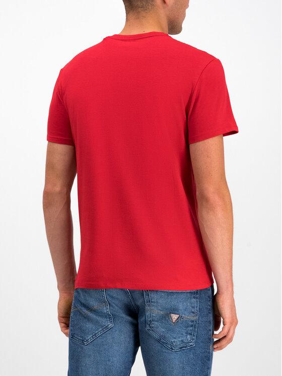 Guess Guess Tričko M93I52 J1300 Červená Slim Fit