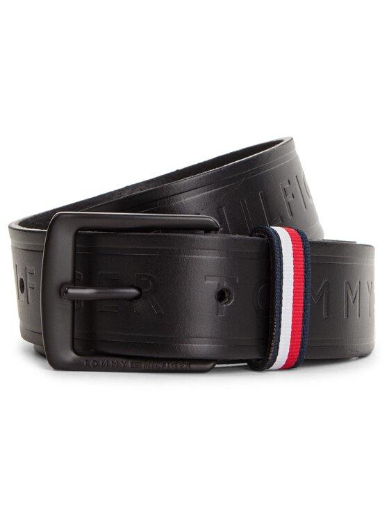Tommy Hilfiger Tommy Hilfiger Cintura da uomo Emboss Belt 3.5 AM0AM04356 Nero