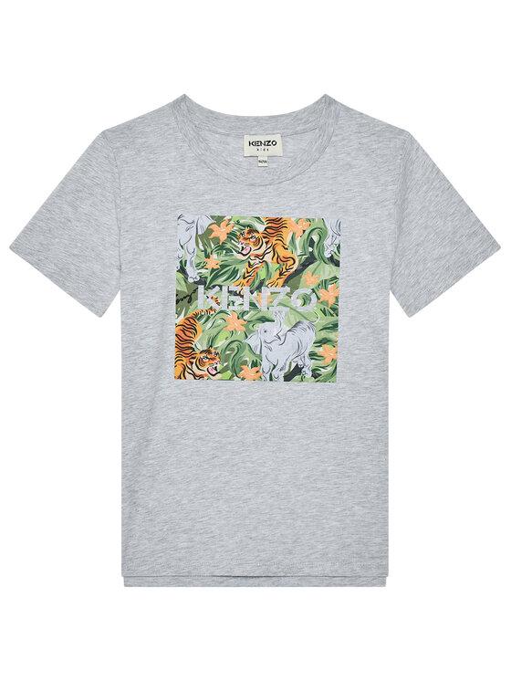 Kenzo Kids Marškinėliai K25101 S Pilka Regular Fit