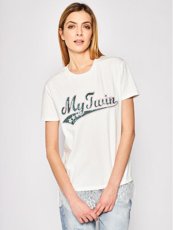My Twin Marškinėliai 201MP2354 Balta Regular Fit