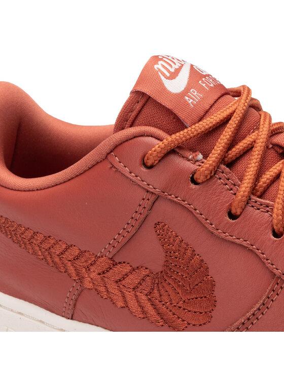 Nike Nike Buty Air Force 1 Prm Emb (Gs) AV0750-200 Czerwony