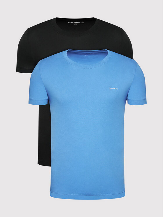 Calvin Klein Jeans 2 marškinėlių komplektas J30J315194 Mėlyna Slim Fit