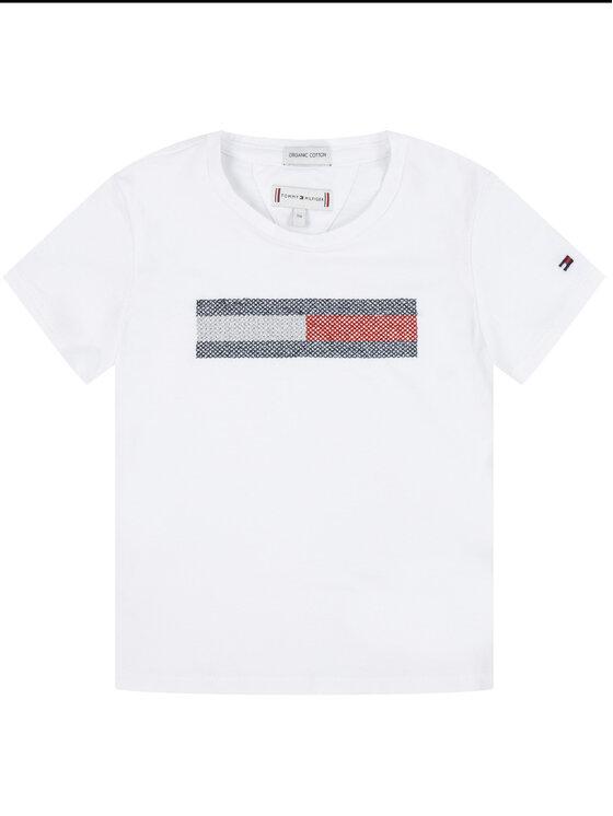 Tommy Hilfiger Tommy Hilfiger T-shirt KG0KG04468 D Bianco Regular Fit