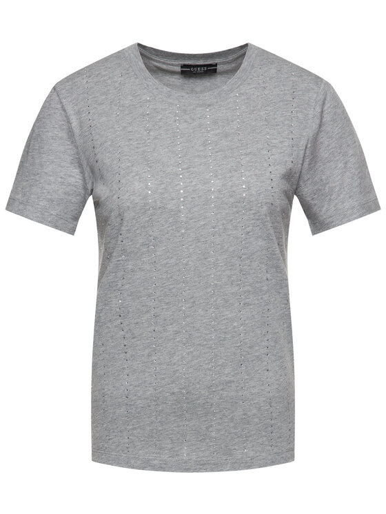 Guess Guess T-shirt Krystal Tee W01I70 K46D0 Gris Regular Fit