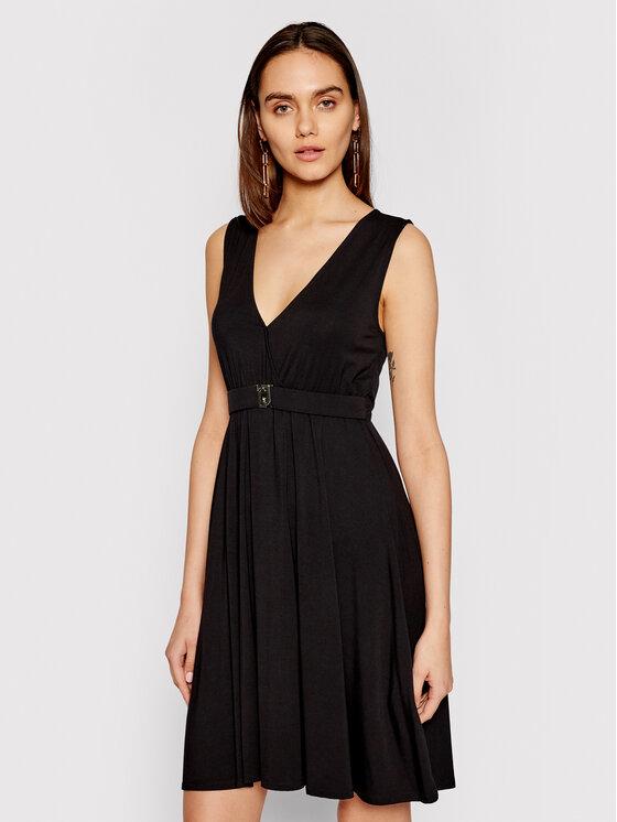 Liu Jo Beachwear Vasarinė suknelė VA1018 J5360 Juoda Regular Fit