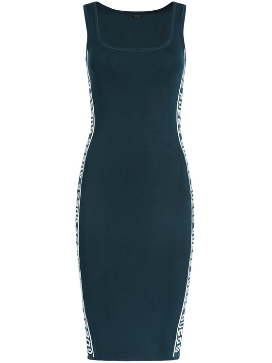 Guess Guess Robe en tricot Genny W01K0W Z2LV0 Bleu Slim Fit