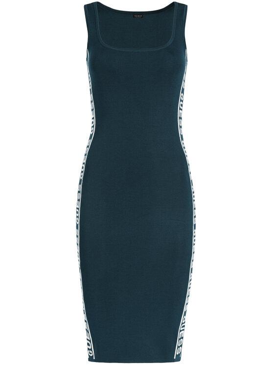 Guess Guess Sukienka dzianinowa Genny W01K0W Z2LV0 Niebieski Slim Fit