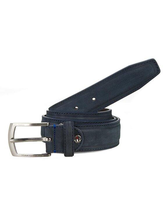 Tommy Hilfiger Tommy Hilfiger Ζώνη Ανδρική Thierry Belt 3.5 Adj BM56927368 Σκούρο μπλε