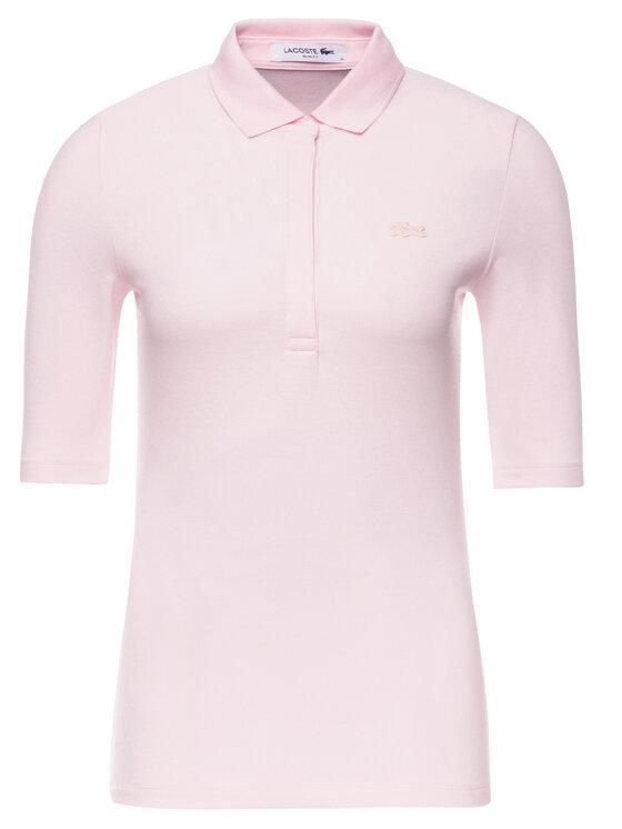 Lacoste Lacoste Polokošeľa PF7844 Ružová Slim Fit
