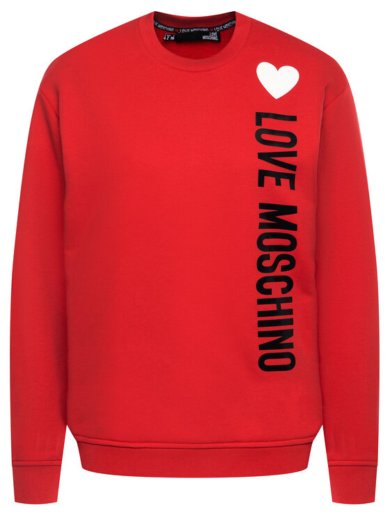LOVE MOSCHINO LOVE MOSCHINO Суитшърт W630632M 4165 Червен Regular Fit