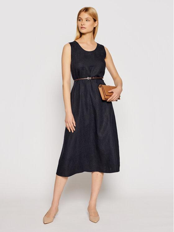 Max Mara Leisure Kasdieninė suknelė Nettuno 32210516 Tamsiai mėlyna Regular Fit