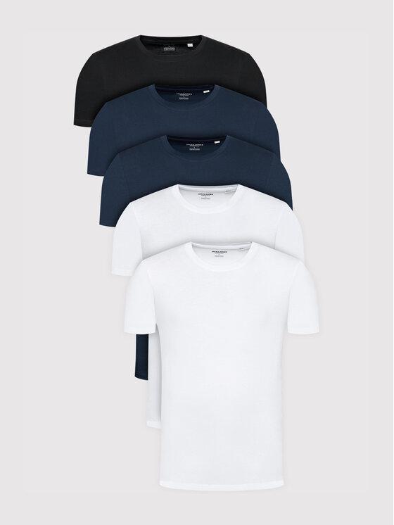 Jack&Jones 5 marškinėlių komplektas Organic Basic 12191190 Spalvota Regular Fit