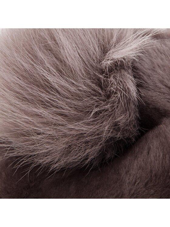 Ugg Ugg Σκούφος W Solid Sheepskin Beanie 17383 Γκρι