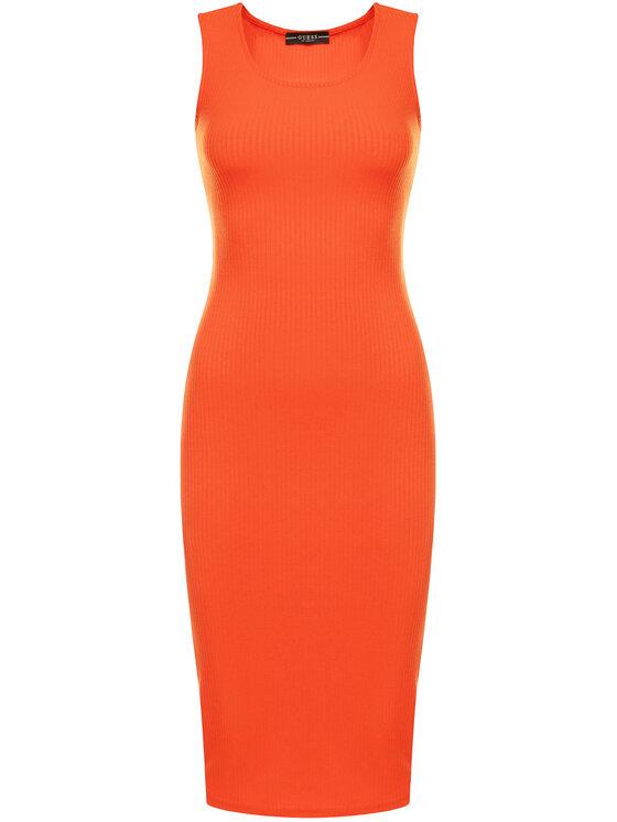Guess Guess Φόρεμα υφασμάτινο Shivia W0GK78 K86Z0 Κόκκινο Slim Fit
