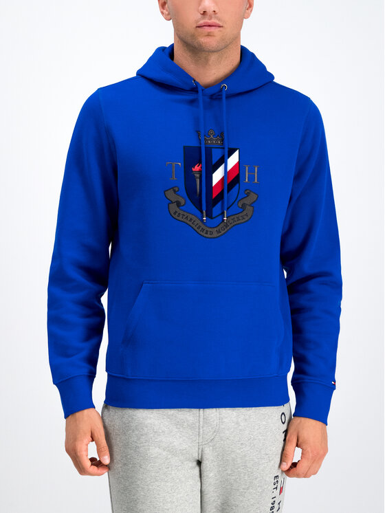 Tommy Hilfiger Tommy Hilfiger Džemperis Crest Artwork MW0MW11555 Tamsiai mėlyna Regular Fit