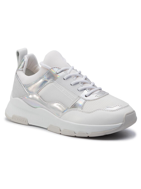 TOMMY HILFIGER TOMMY HILFIGER Сникърси Lifestyle Iridescent Sneaker FW0FW04391 Бял