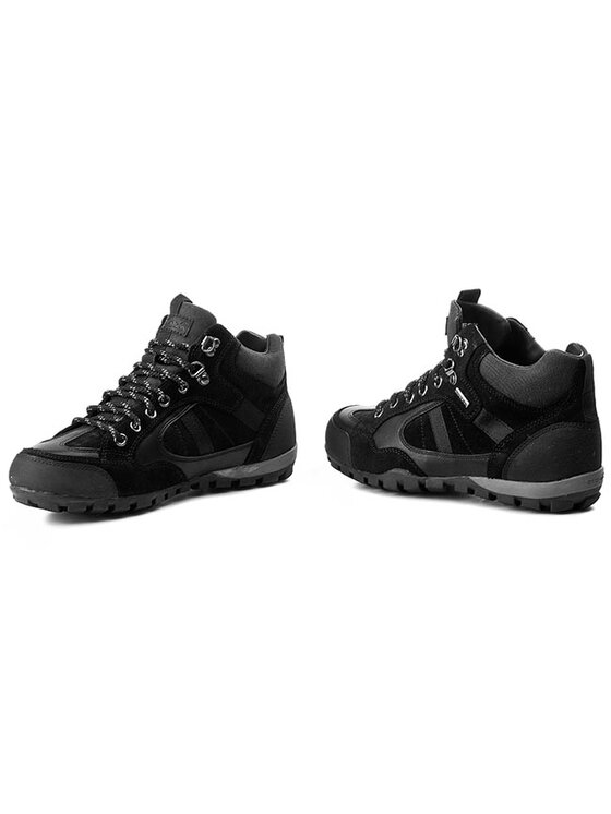 Geox Geox Παπούτσια πεζοπορίας U Roccia B Abx A U44C9A 02343 C9999 Μαύρο