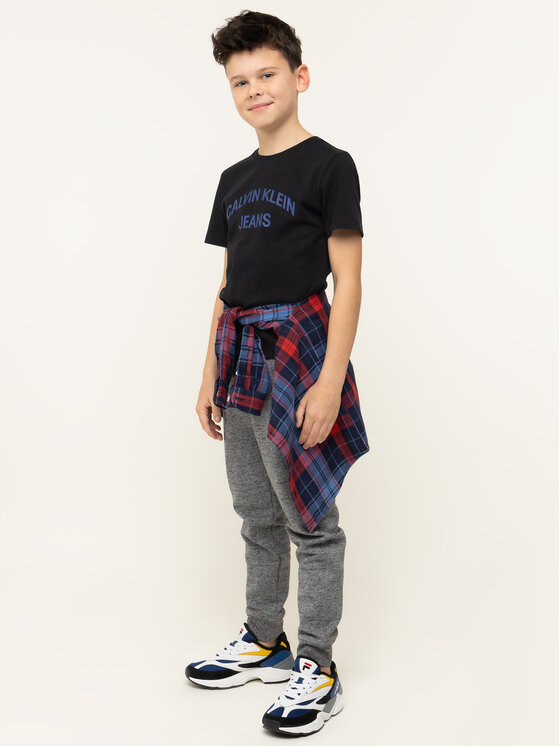 Calvin Klein Jeans Calvin Klein Jeans T-Shirt IB0IB00182 Schwarz Regular Fit
